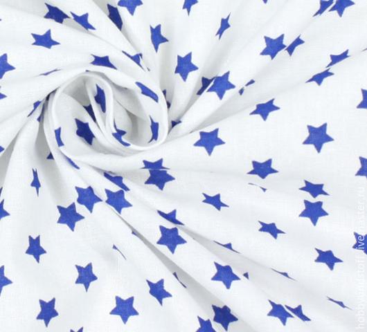Шитье ручной работы. Ярмарка Мастеров - ручная работа. Купить Немецкий хлопок синие звездочки. Handmade. Тёмно-синий