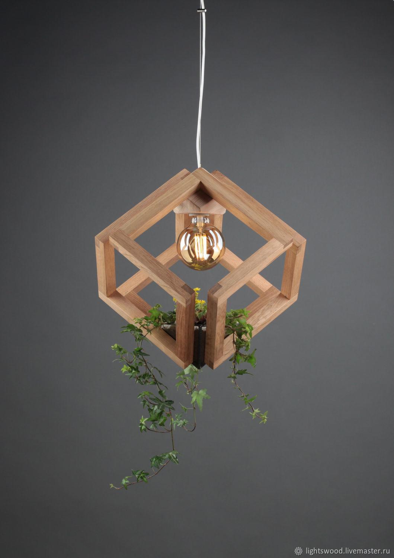 Смарт светильник из дерева Кубиринт #2, Люстры, Санкт-Петербург,  Фото №1