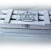 """Для дома и интерьера ручной работы. Ярмарка Мастеров - ручная работа Короб для вина """"1871"""". Handmade."""