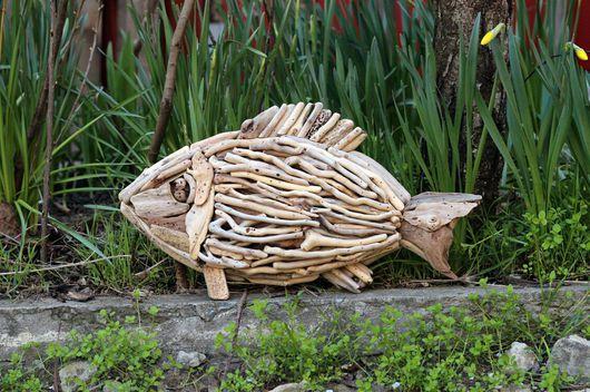 Детская ручной работы. Ярмарка Мастеров - ручная работа. Купить Рыба декоративная. Handmade. Рыба, панно, коряга, фанера