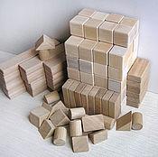 Детские деревянные кубики, конструктор для детей, подарок ребёнку