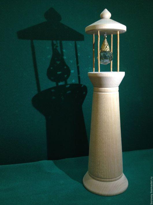 Миниатюрные модели ручной работы. Ярмарка Мастеров - ручная работа. Купить Маяк с кристалом. Handmade. Бежевый, сувенир