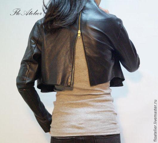 Верхняя одежда ручной работы. Ярмарка Мастеров - ручная работа. Купить Кожаная куртка ЭКО/Модная куртка с молнией/ F1395. Handmade.
