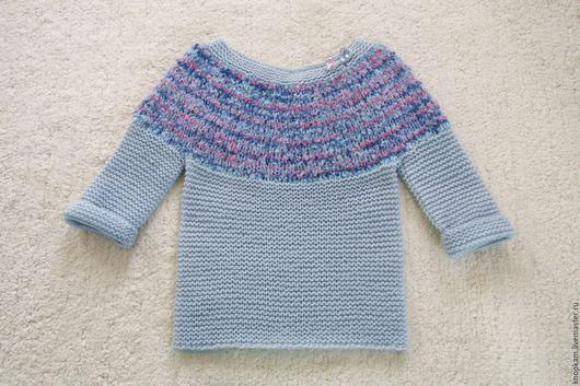 """Одежда для девочек, ручной работы. Ярмарка Мастеров - ручная работа. Купить Джемпер """"Северное сияние"""". Handmade. Голубой, одежда для девочек"""