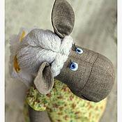 Куклы и игрушки ручной работы. Ярмарка Мастеров - ручная работа Лошадка в желтом платье. Handmade.