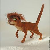 Куклы и игрушки ручной работы. Ярмарка Мастеров - ручная работа коты-воители из шерсти. Handmade.