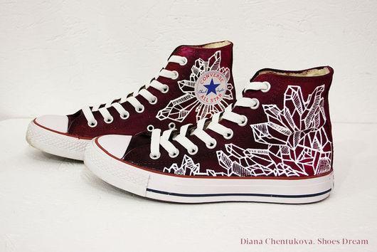 `Crystals` кеды Converse с росписью. Диана Чентукова. Diana Chentukova. Shoes Dream