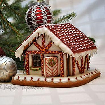 """Сувениры и подарки ручной работы. Ярмарка Мастеров - ручная работа """"Европейский"""" пряничный домик - оригинальный подарок на новый год. Handmade."""