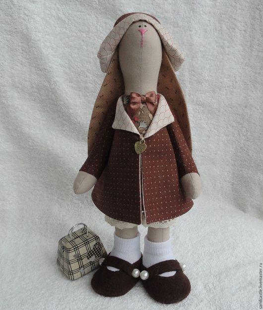 Игрушки животные, ручной работы. Ярмарка Мастеров - ручная работа. Купить Шоколадный заяц. Handmade. Коричневый, стоит, аксессуары для кукол