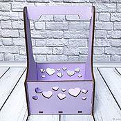 Корзины ручной работы. Ярмарка Мастеров - ручная работа Ящик деревянный сиреневый. Handmade.