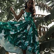 Одежда ручной работы. Ярмарка Мастеров - ручная работа Платье в банановые листья. Handmade.