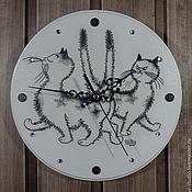 """Для дома и интерьера ручной работы. Ярмарка Мастеров - ручная работа Часы """"Кошечки"""". Handmade."""