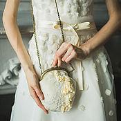 Свадебный салон ручной работы. Ярмарка Мастеров - ручная работа Свадебная сумочка на цепочке. Handmade.