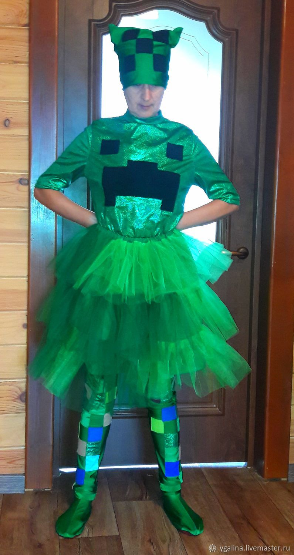 костюм для майнкрафт девочкам #6