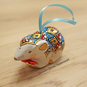 Сувениры и подарки ручной работы. Ярмарка Мастеров - ручная работа Мышь-елочная игрушка, символ 2020 года. Handmade.