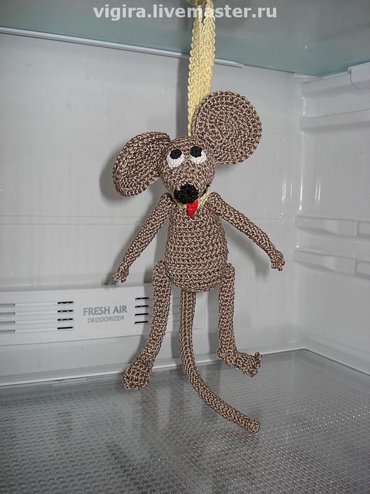 """Игрушки животные, ручной работы. Ярмарка Мастеров - ручная работа. Купить Мышь в холодильник """"Лучшая диета"""". Handmade. Мышь"""