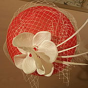"""Свадебный салон ручной работы. Ярмарка Мастеров - ручная работа Шляпка таблетка  """" Катарина"""". Handmade."""