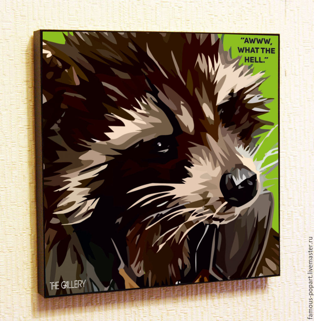 Painting Pop Art Rocket Raccoon Guardians Of The Galaxy, Pictures, Moscow,  Фото №1
