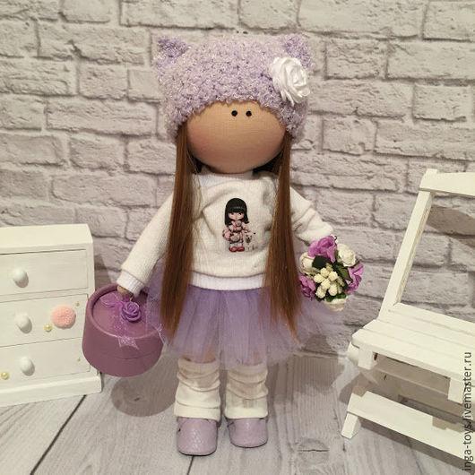 Коллекционные куклы ручной работы. Ярмарка Мастеров - ручная работа. Купить Интерьерная куколка Сиренька. Handmade. Сиреневый, интерьерное украшение