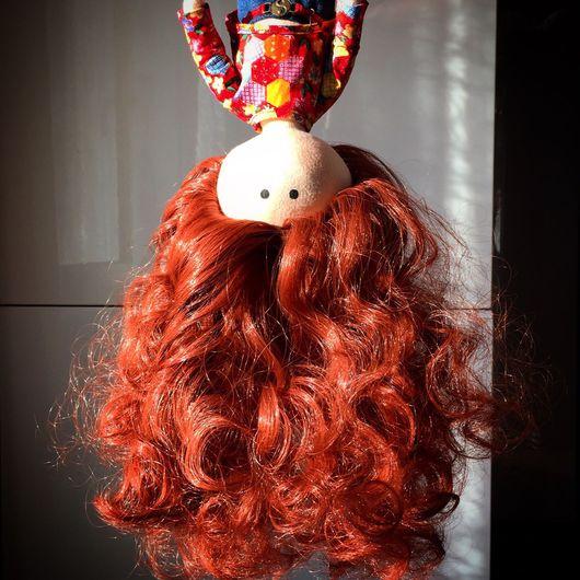 Куклы тыквоголовки ручной работы. Ярмарка Мастеров - ручная работа. Купить Интерьерная кукла. Handmade. Хиппи, кудри, хлопок 100%