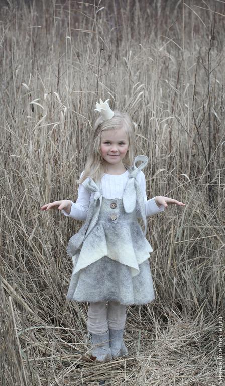 Одежда для девочек, ручной работы. Ярмарка Мастеров - ручная работа. Купить Лакомка из Зимней сказки- продолжение... Handmade. Серый, мода