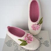"""Обувь ручной работы. Ярмарка Мастеров - ручная работа Тапочки валяные """" Сама нежность"""". Handmade."""