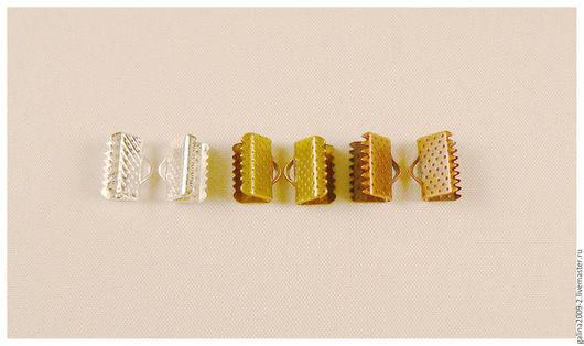 Для украшений ручной работы. Ярмарка Мастеров - ручная работа. Купить Концевик для ленты, 10 мм., за 1 пару.. Handmade.