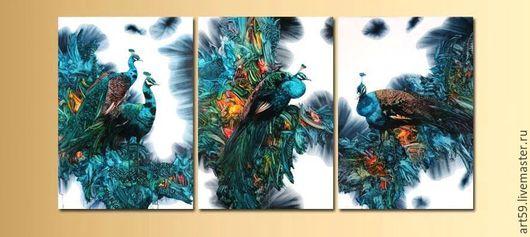 Фантазийные сюжеты ручной работы. Ярмарка Мастеров - ручная работа. Купить Красивые птицы в вашем доме. Handmade. Комбинированный