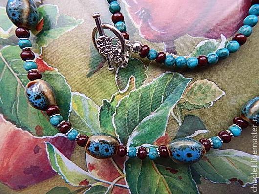 Колье, бусы ручной работы. Ярмарка Мастеров - ручная работа. Купить Бусы ручной работы из натуральных камней. Handmade.