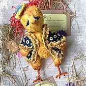 Куклы и игрушки ручной работы. Ярмарка Мастеров - ручная работа Цыпленок-тедди (Тутта Карлсон). Handmade.