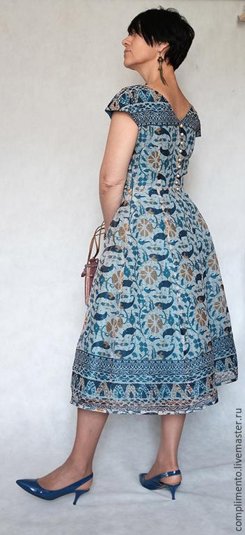 Платья ручной работы. Ярмарка Мастеров - ручная работа. Купить Платье из ткани батик ВОСТОК-ЗАПАД. Handmade. Восточные мотивы