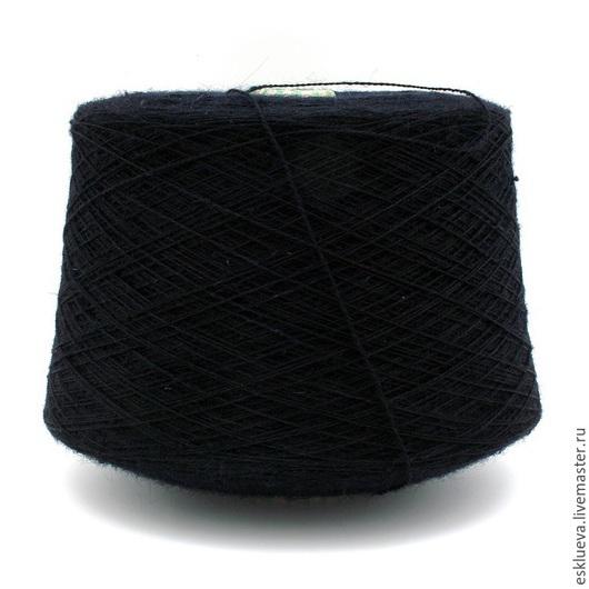 Вязание ручной работы. Ярмарка Мастеров - ручная работа. Купить Шерсть 100%. Handmade. Черный, шерстяная пряжа, итальянская пряжа