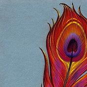 Картины и панно ручной работы. Ярмарка Мастеров - ручная работа Картина пастелью Перо. Handmade.