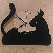 Часы классические ручной работы. Ярмарка Мастеров - ручная работа Настенные часы Эльза. Handmade.