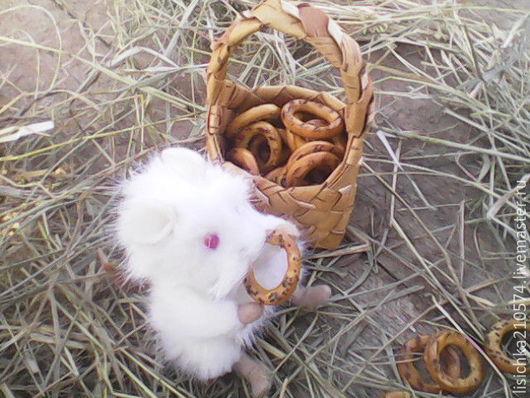 """Куклы и игрушки ручной работы. Ярмарка Мастеров - ручная работа. Купить Мышонок """"Пик"""". Handmade. Белый, миниигрушка, подарок, синтепон"""