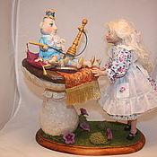 Куклы и игрушки ручной работы. Ярмарка Мастеров - ручная работа Авторская кукла: Синяя гусеница дает совет.. Handmade.