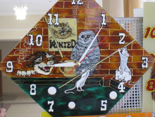 Часы для дома ручной работы. Ярмарка Мастеров - ручная работа. Купить Часы настенные Веселый бильярд. Handmade. Комбинированный, часы