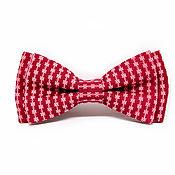 Аксессуары handmade. Livemaster - original item Bow tie red with small pattern. Handmade.