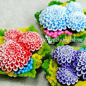 Материалы для творчества handmade. Livemaster - original item Silicone molds for soap Bouquet of dahlias. Handmade.