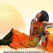 """Одежда ручной работы. Ярмарка Мастеров - ручная работа Юбка """"Золотой апельсин"""". Handmade."""