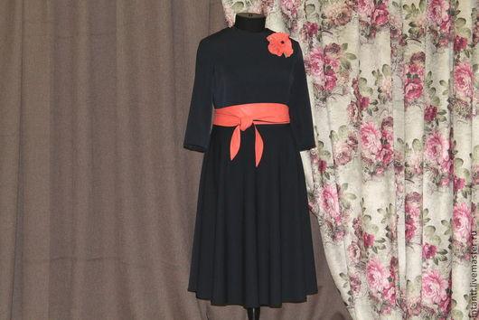 Платья ручной работы. Ярмарка Мастеров - ручная работа. Купить Платье. Handmade. Тёмно-синий, Красивые вещи, красивая одежда