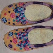 Обувь ручной работы. Ярмарка Мастеров - ручная работа валяные домашние  тапочки. Handmade.
