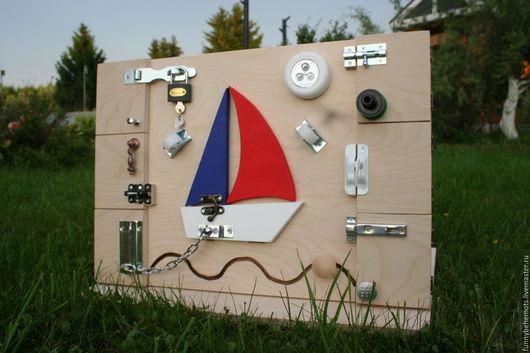 Развивающие игрушки ручной работы. Ярмарка Мастеров - ручная работа. Купить Бизиборд Кораблик. Handmade. Бизиборд, развивающая игрушка