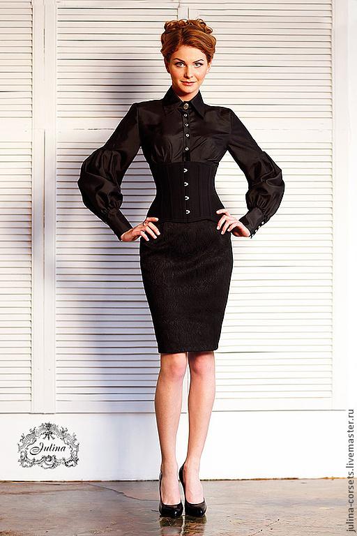 """Блузки ручной работы. Ярмарка Мастеров - ручная работа. Купить Блузка """"Дама с камеями"""" черный шелк. Handmade. Черный, готика"""