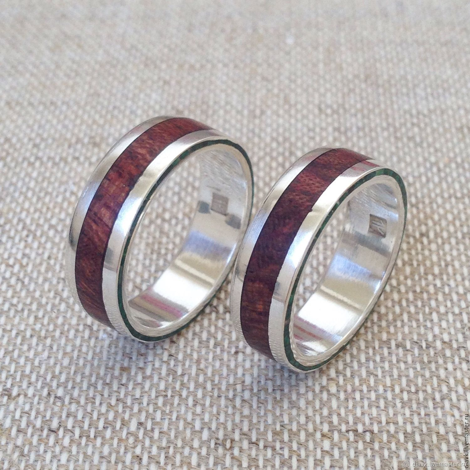 Wedding rings with wood - the Song of the druids, Engagement rings, Odessa,  Фото №1