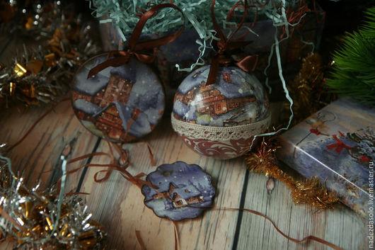 Новый год 2017 ручной работы. Ярмарка Мастеров - ручная работа. Купить Ёлочные шары Всякие разные. Handmade. Елочные украшения