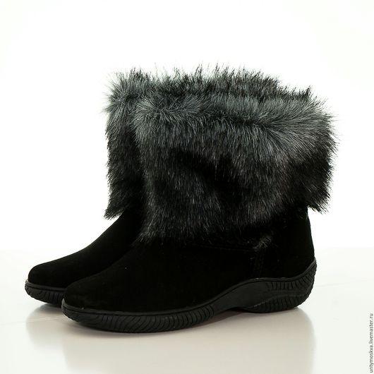Обувь ручной работы. Ярмарка Мастеров - ручная работа. Купить Унты женские ( литая подошва ) уж73. Handmade.