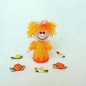 Куклы и игрушки ручной работы. Ярмарка Мастеров - ручная работа Солнечный ангел. Вязаная игрушка. Handmade.
