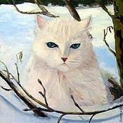 Картины и панно ручной работы. Ярмарка Мастеров - ручная работа мартовский кот. Handmade.