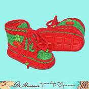 Работы для детей, handmade. Livemaster - original item Maxim shoes booties, summer booties on his shoes, footwear for children. Handmade.
